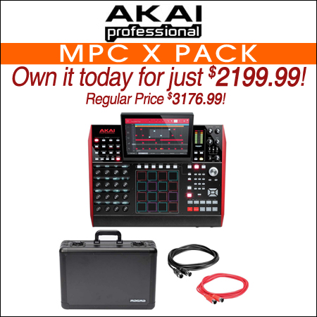 Akai Professional MPC X Audio Recording Workstation + Road Case + Midi Cables