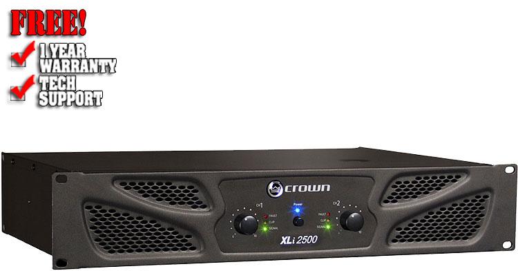crown xli 2500 xli series dj amplifiers dj amps 123dj chicago dj equipment. Black Bedroom Furniture Sets. Home Design Ideas