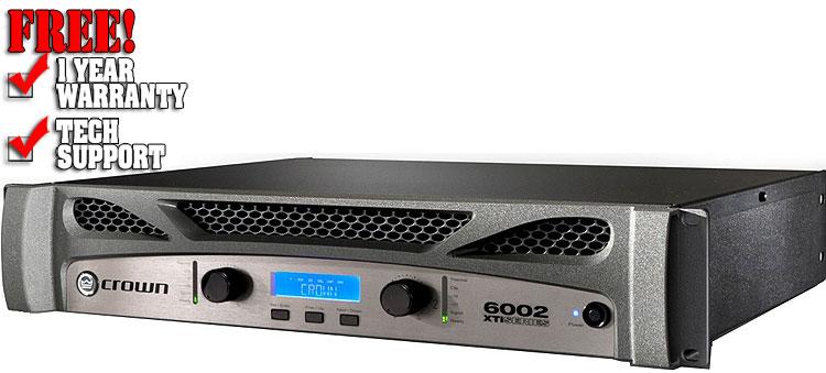 crown xti 6002 dj amplifiers dj audio dj equipment chicago 123dj. Black Bedroom Furniture Sets. Home Design Ideas