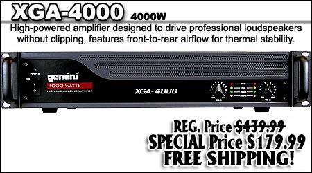 Gemini DJ Amplifiers XGA2000 XGA3000 XGA4000 – Dj Amplifier Wiring Diagram