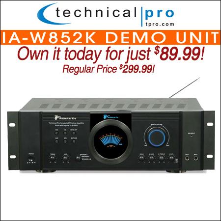 Technical Pro IA-W852K