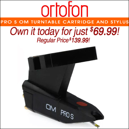 Ortofon Pro S OM Turntable Cartridge and Stylus
