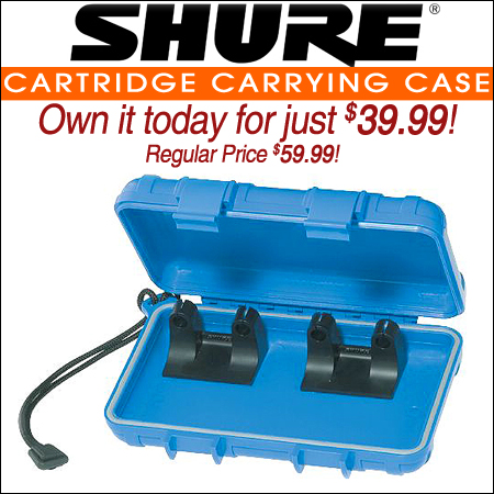 Shure Cartridge carrying case