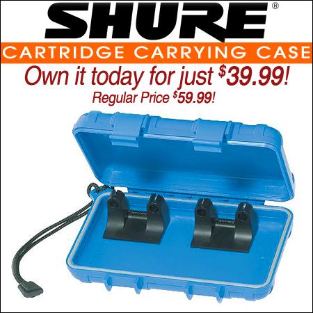 Shure Cartridge carrying case