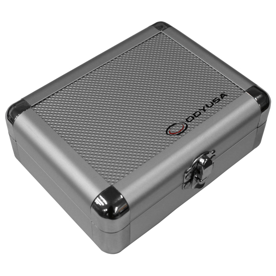 Odyssey KCC2PR2SD KROM Series Silver Diamond PRO2 Case for Two Turntable Needle Cartridges