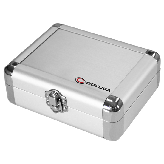 Odyssey KCC2PR2SL KROM Series Silver PRO2 Case for Two Turntable Needle Cartridges