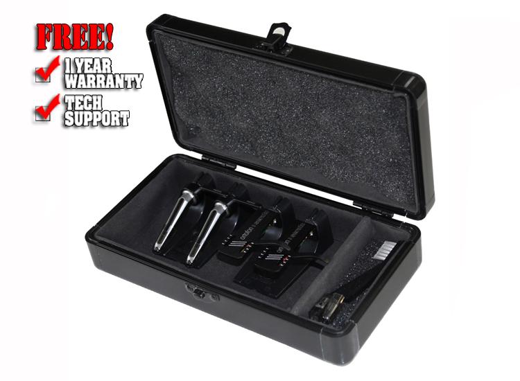 Odyssey KCC4PR2BL KROM Series Black PRO2 Case for Four Turntable Needle Cartridges