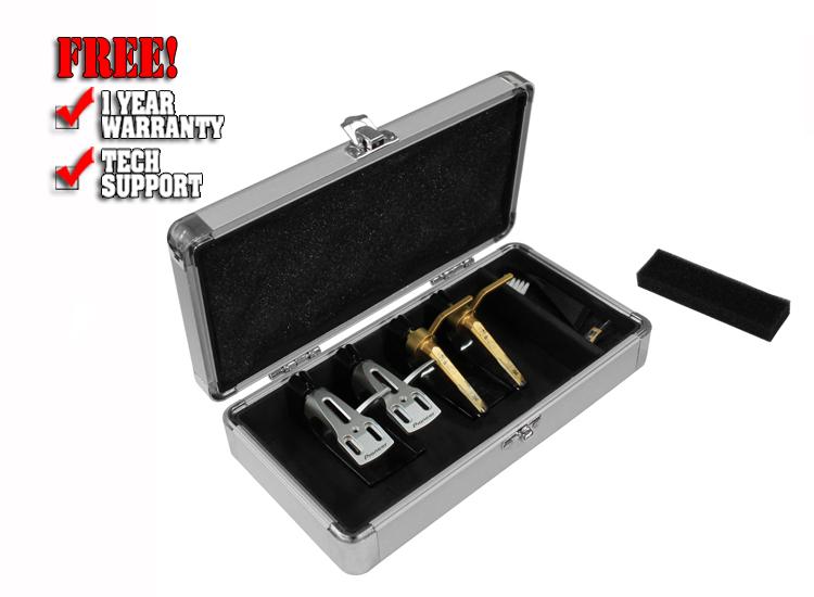 Odyssey KCC4PR2SD KROM Series Silver Diamond PRO2 Case for Four Turntable Needle Cartridges