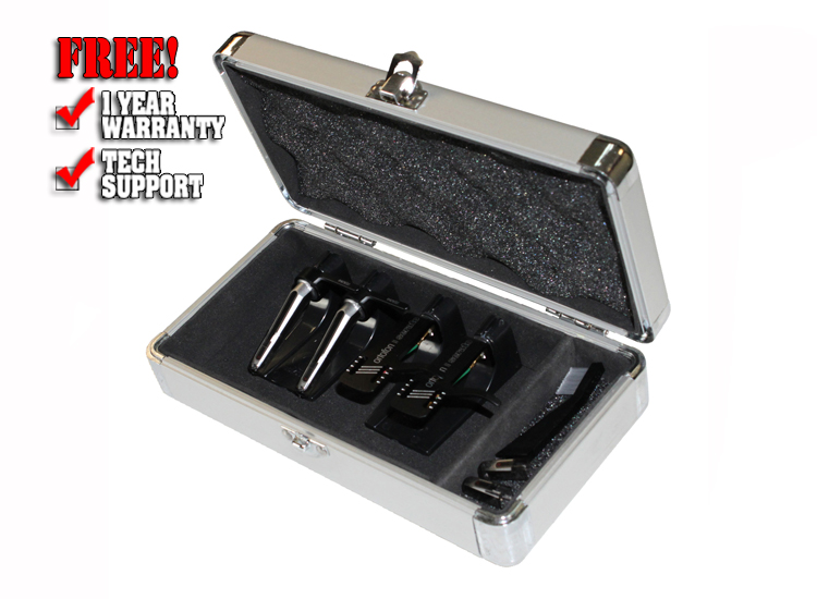 Odyssey kCC4PR2SL KROM Series Silver PRO2 Case for Four Turntable Needle Cartridges