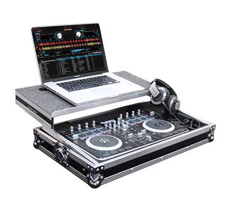 Pioneer DDJ-400 and Pioneer DM-40 Black with Odyssey FRGSPIDDJSB Package