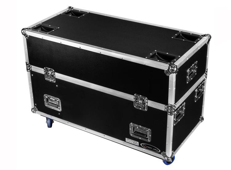 "Odyssey FZ2FSM40W Dual 40-43"" Flat Screen Monitor Case with Casters"