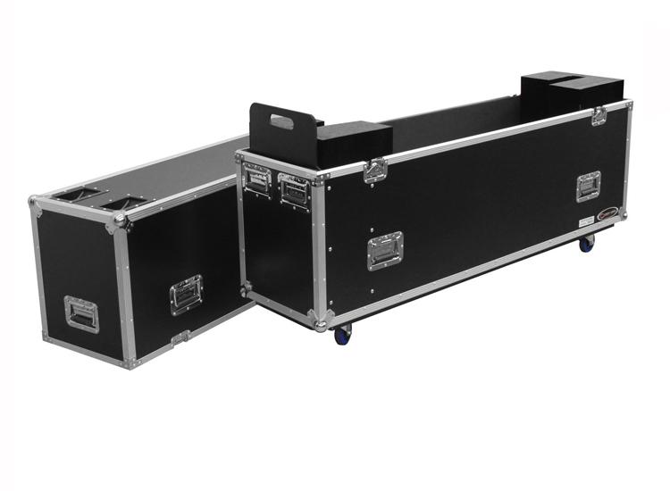 "Odyssey FZFSM65W 60-65"" Flat Screen Monitor Flight Case with Casters"
