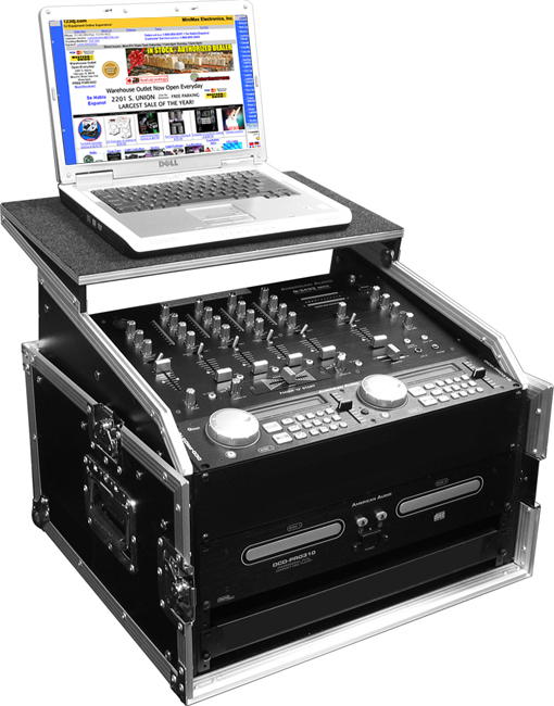 10u Slant Mixer Rack 2u Vertical System With Full Ac Door And Sliding Back Top Shelf To Hold Up 17 Laptop Regular 399 99