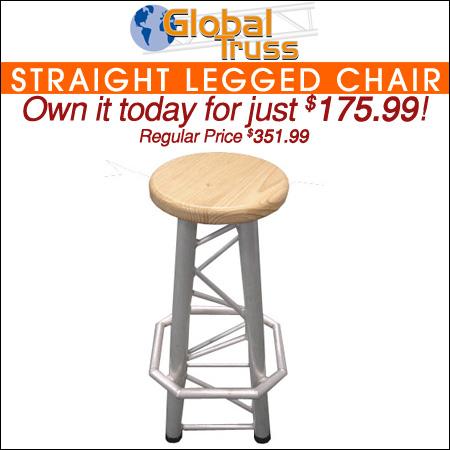 GLOBAL TRUSS Straight Legged Chair
