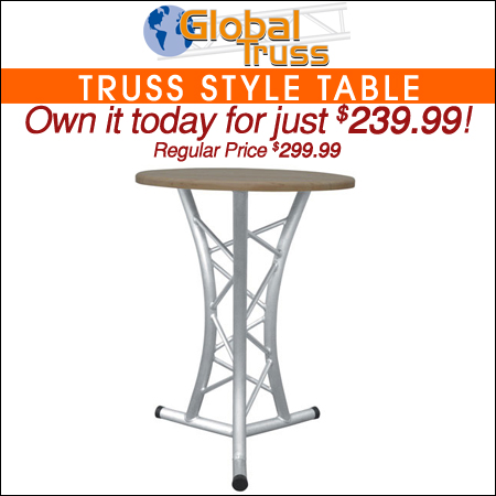 GLOBAL TRUSS Solid Wood Top Truss Table