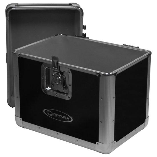 "Odyssey KLP1BLK KROM Series Black Record/Utility Case for 70 12"" Vinyl Records & LPs"