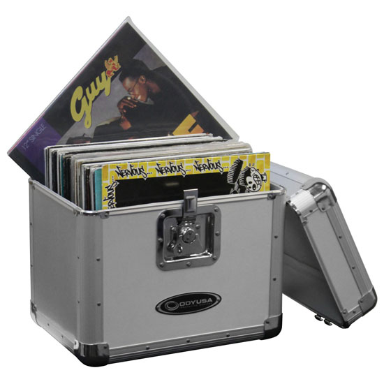 """Odyssey KLP1SIL KROM Series Silver Record/Utility Case for 70 12"""" Vinyl Records & LPs"""