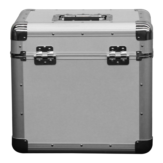 """Odyssey KLP2SIL KROM Series Silver Stackable Record/Utility Case for 70 12"""" Vinyl Records & LPs"""