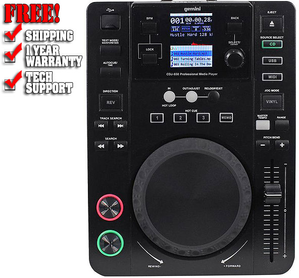 Đầu DJ Gemini CDJ-650 Professional DJ Media Player