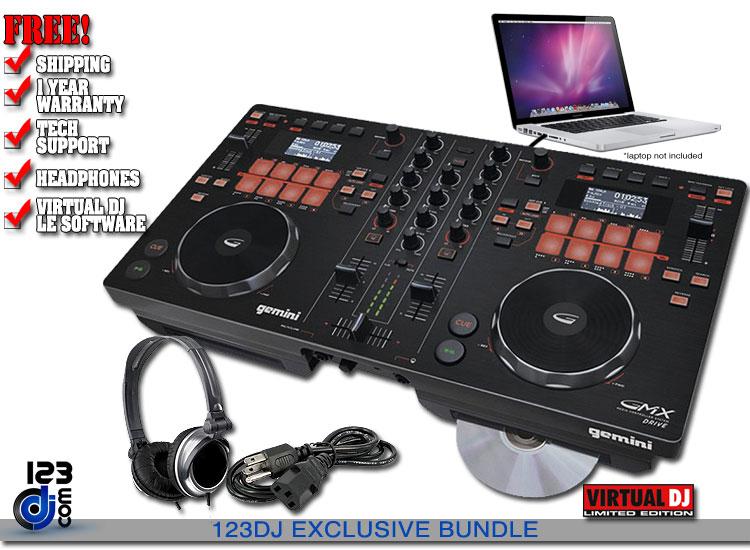 Gemini Gmx Drive Dj Controllers Dj Audio 123dj Com