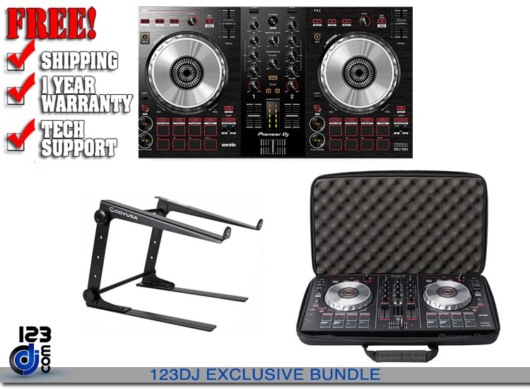 Pioneer DDJ-SB3 + Magma Case + Stand | DJ Controllers | DJ