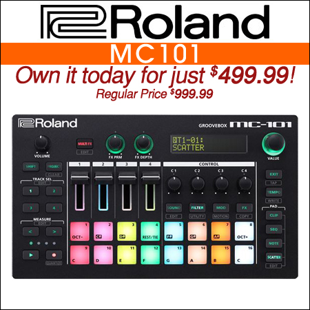 Roland MC101 Groovebox Production Workstation