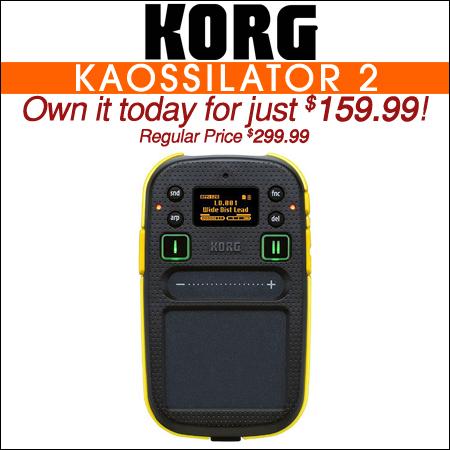 Korg Kaossilator 2 Slim-line USB-MIDI Controller Pack