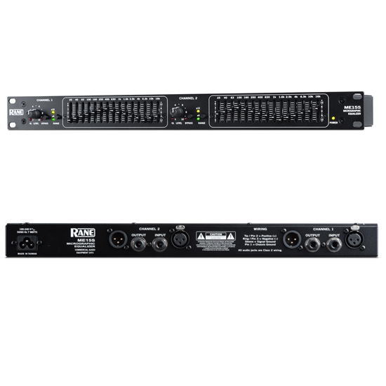 Rane ME15S 2-Channel 2/3 Octave microGRAPHIC Equalizer
