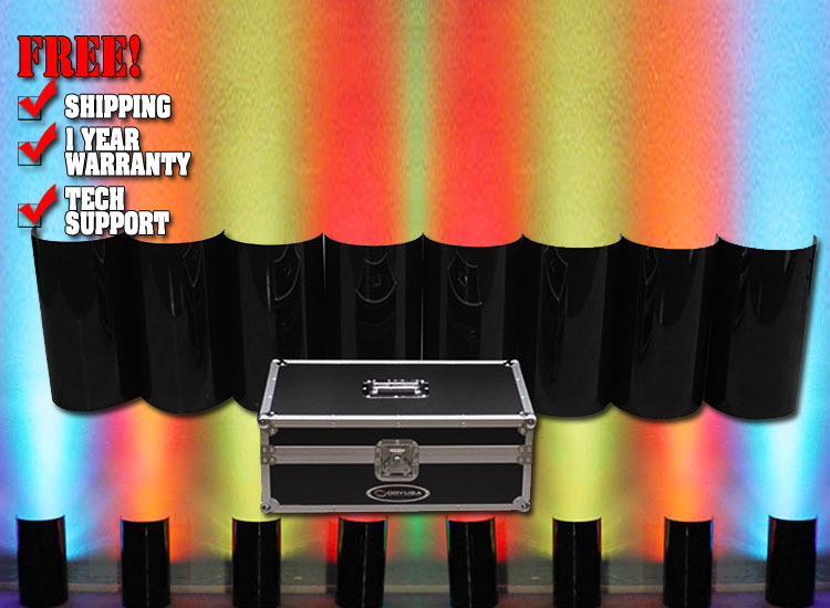 Odyssey ODYSHLD2008BLK Black Uplighting Covers