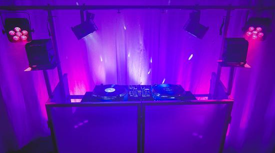 Novopro Sdx V2 Foldable Dj Booth With Lighting Rig