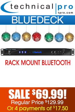 Technical Pro Blue Deck Rack Mountable Bluetooth Receiver