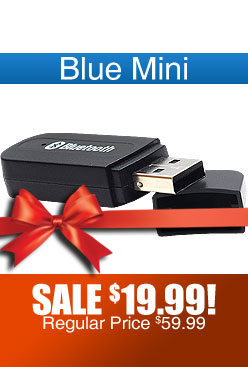 Blue Mini Portable Bluetooth Compatibility Device