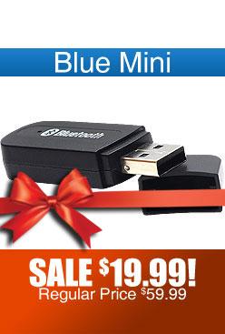 Blue Mini Portable Bluetooth Compatibility Device