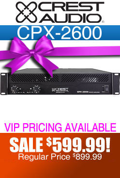 CPX2600 DJ Amplifier