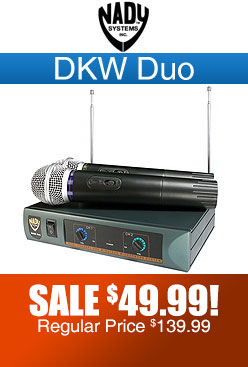 Nady DKW Duo Dual Wireless Microphone