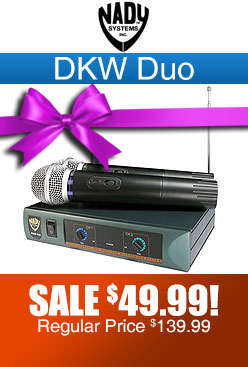 Nady DKW Duo Dual Wireless Microphone