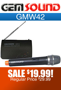 Gemsound GMW-42 Single Channel Wireless Microphone