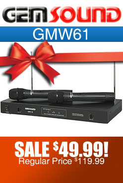 Gemsound GMW61 Dual Wireless Microphone