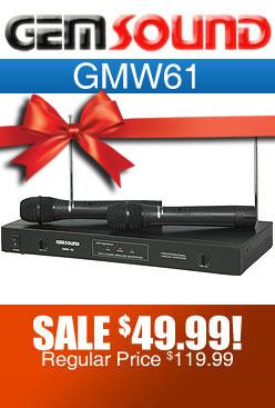 Gemsound GMW61 Dual Wireless Microphone