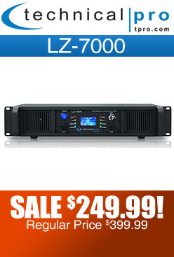 Technical Pro LZ7000 Power DJ Amplifier