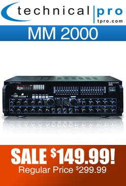 Technical Pro mm2000 Amplifier