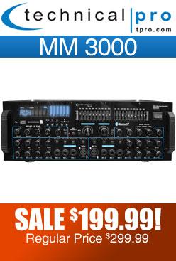 Technical Pro mm3000 DJ Amplifier