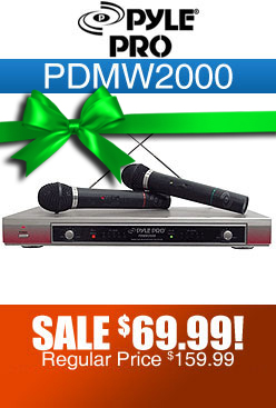 Pyle Pro PDMW2000 Dual Wireless Microphone
