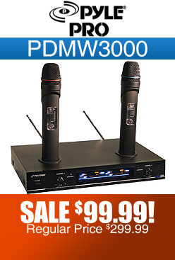 Pyle Pro PDMW3000 Dual Wireless Microphone