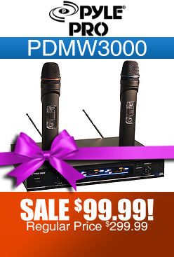 Pyle Pro PDMW3000 Dual Wireless Microphone