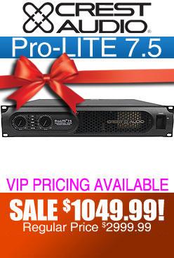 Pro-LITE 7.5 DJ Amplifier