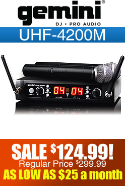 Gemini UHF4200M Wireless Microphone
