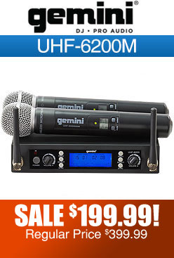 Gemini UHF6200M Wireless Microphone