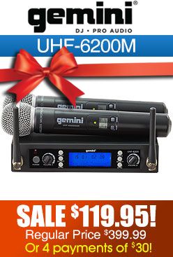 Gemini UHF6200M Wireless Microphone
