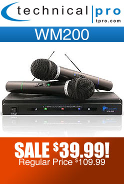 Technical Pro WM200 Dual Wireless Microphone